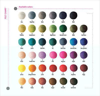 FELT BALLS 1cm (10mm) x 1000 pieces ->MIX OF COLORS OR CHOOSE EACH BALL