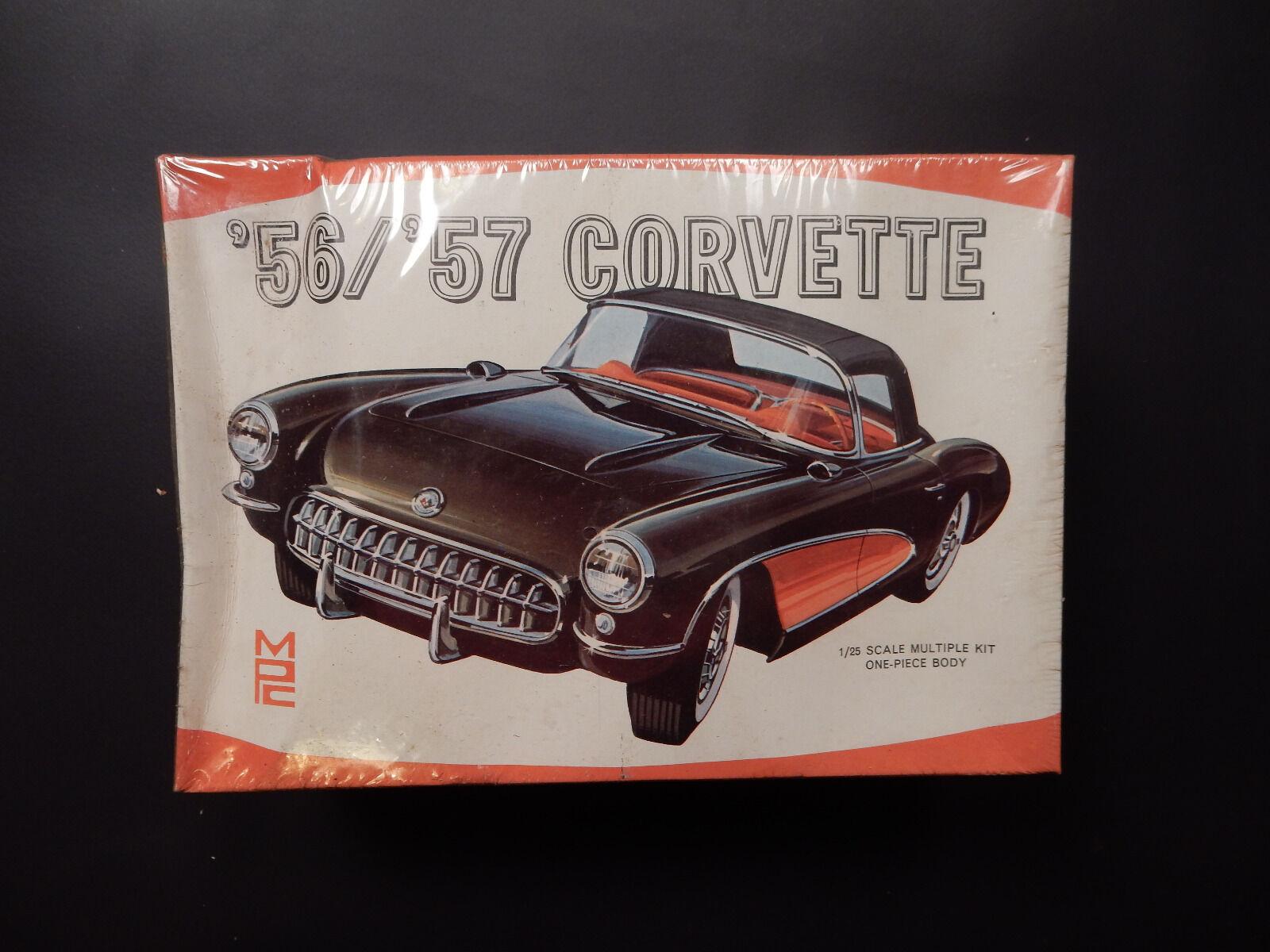 Car Kit Model Vintage MPC '56 '57 Corvette Build 8 Ways-Sealed NIB