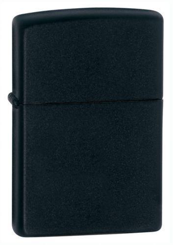 Zippo Windproof Black Matte Lighter  Item 218 New In Box Lifetime Warranty Gift
