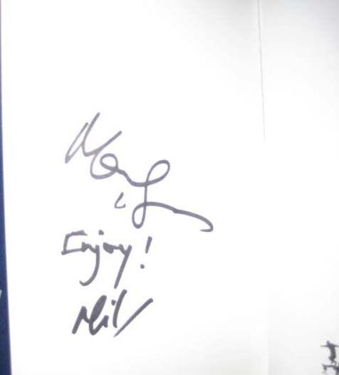 Mark negroer & autor libro firmado a mano Meg Meg Meg sin enmarcar + foto prueba & C.o.a 7651ee