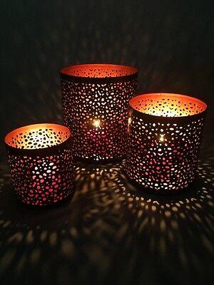 3er SET Orient Orientalische Marokkanische Kerzenlicht Windlichter Kerzenhalter