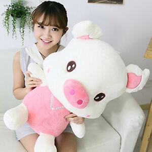 1pcs 60cm big plush cute pink pig swine giant large stuffed plush toy doll ebay. Black Bedroom Furniture Sets. Home Design Ideas
