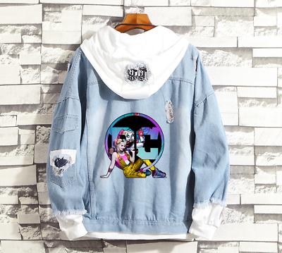 Birds of Prey Harley Quinn Zip Up Jacket Hoodie Sweatshirt Jacket Coat