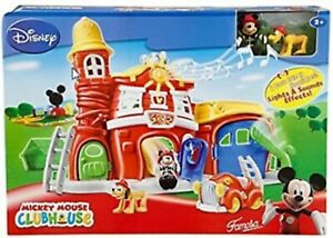 Disney-Junior-Mickey-Mouse-11-Piece-Firehouse-Playset-New-Factory-Sealed