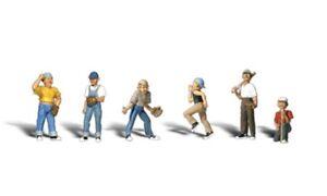 N-Woodland-Scenics-A2146-Figuren-Set-Baseball-Spieler-Set-II-neu-OVP