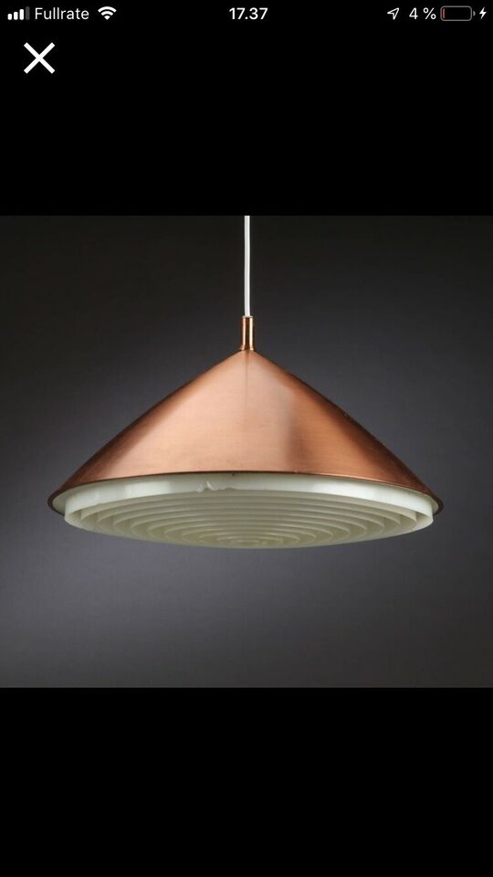 Anden arkitekt, Kobber pendel, bordlampe