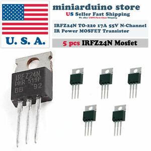 2pcs IRFZ24N IRFZ24 HEX Power MOSFET N-Channel 17A 55V