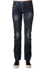 DIESEL W28 L32 Women's Faithlegg 0804D Worn & Dirty Look Straight Jeans - POPPRI