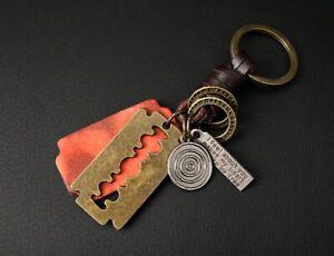 AuPra-Keyring-Leather-Vintage-Keychain-Key-Ring-Pendant-Gifts