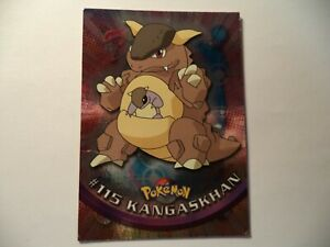 (ASB) TOPPS TV ANIMATION POKEMON SHINY #115 KANGASKHAN PLAYED IN FAIR CONDITION