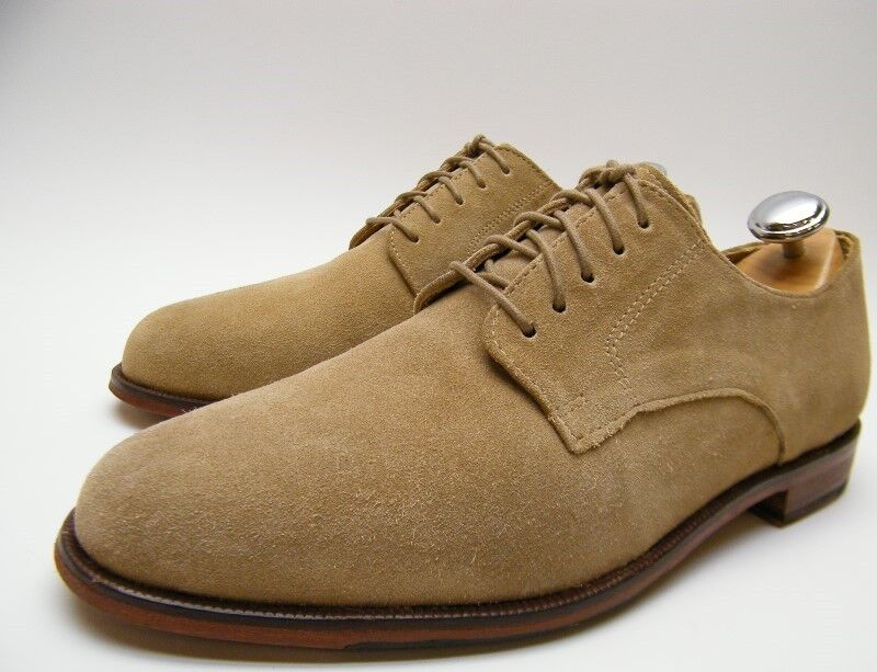 MEN COLE HAAN C14209 GRAND OS BEIGE SUEDE OXFORD CASUAL DRESS SHOES SZ 9.51 2 M