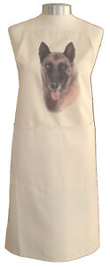 Donkey Themed Natural Cotton Apron Double Pockets UK Made Baker Cook