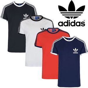 Adidas-Mens-Short-Sleeve-Retro-Originals-Trefoil-Cotton-Jersey-T-Shirt-Size-S-XL