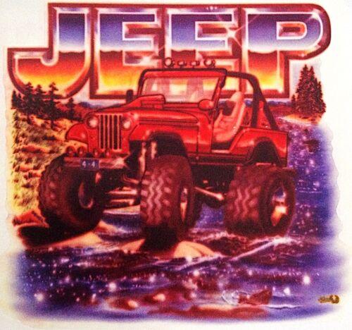 "Original /""Jeep/"" Hot Peel Iron On Transfer"