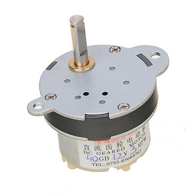 3RPM DC 12V 0.07A Geared Motor High Torque Mini Electric Low Speed Metal New