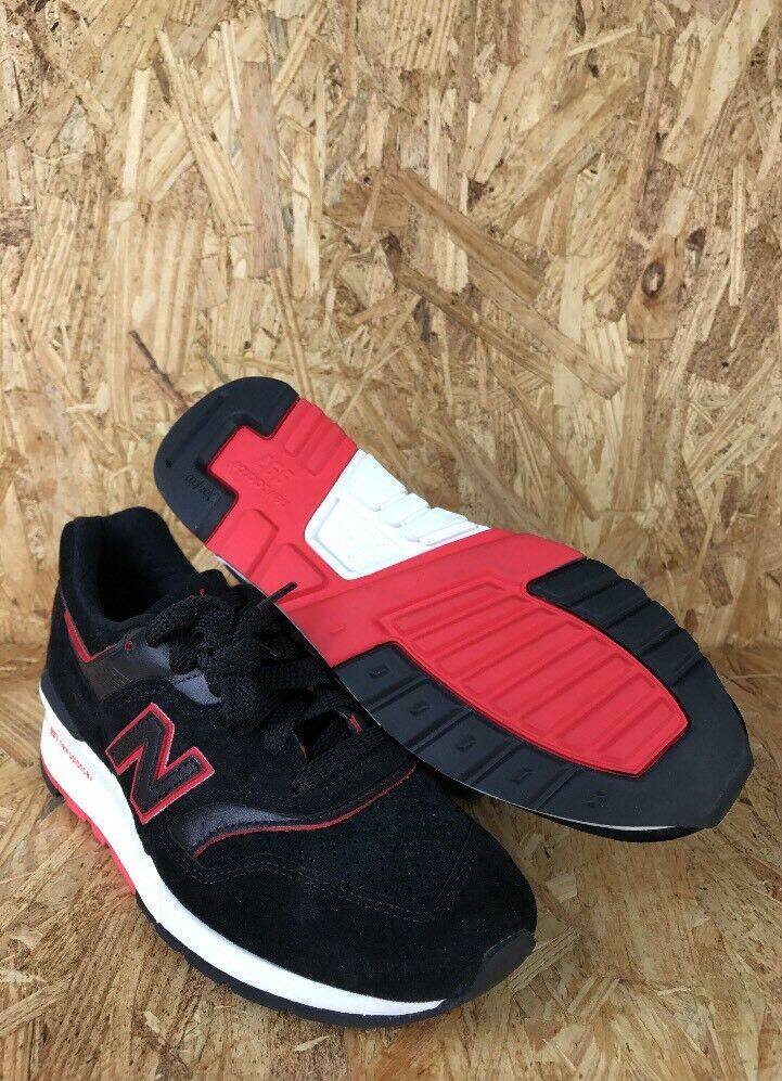 New Balance 997 Air Exploration Shoes Black Red Athletic Made In USA Men Size 6