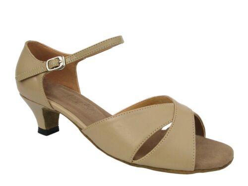 Women/'s West Coast Swing Salsa Ballroom Dance Shoes low Heel 1.3 Very Fine 6029
