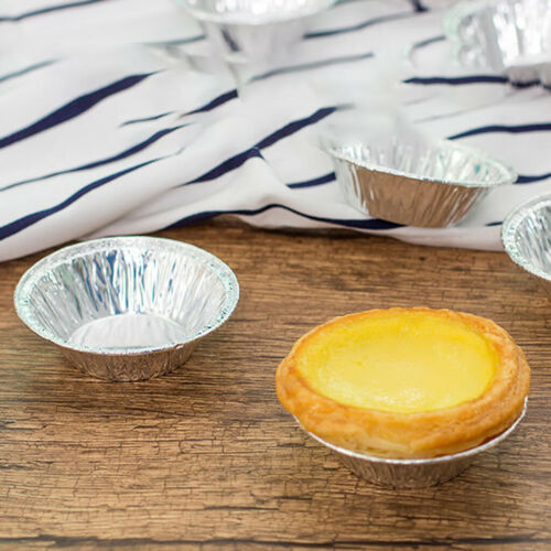 100PC Egg Tart Mould Cake Tins Set Baking Cups Round Circular Pie Mold Plate Pan