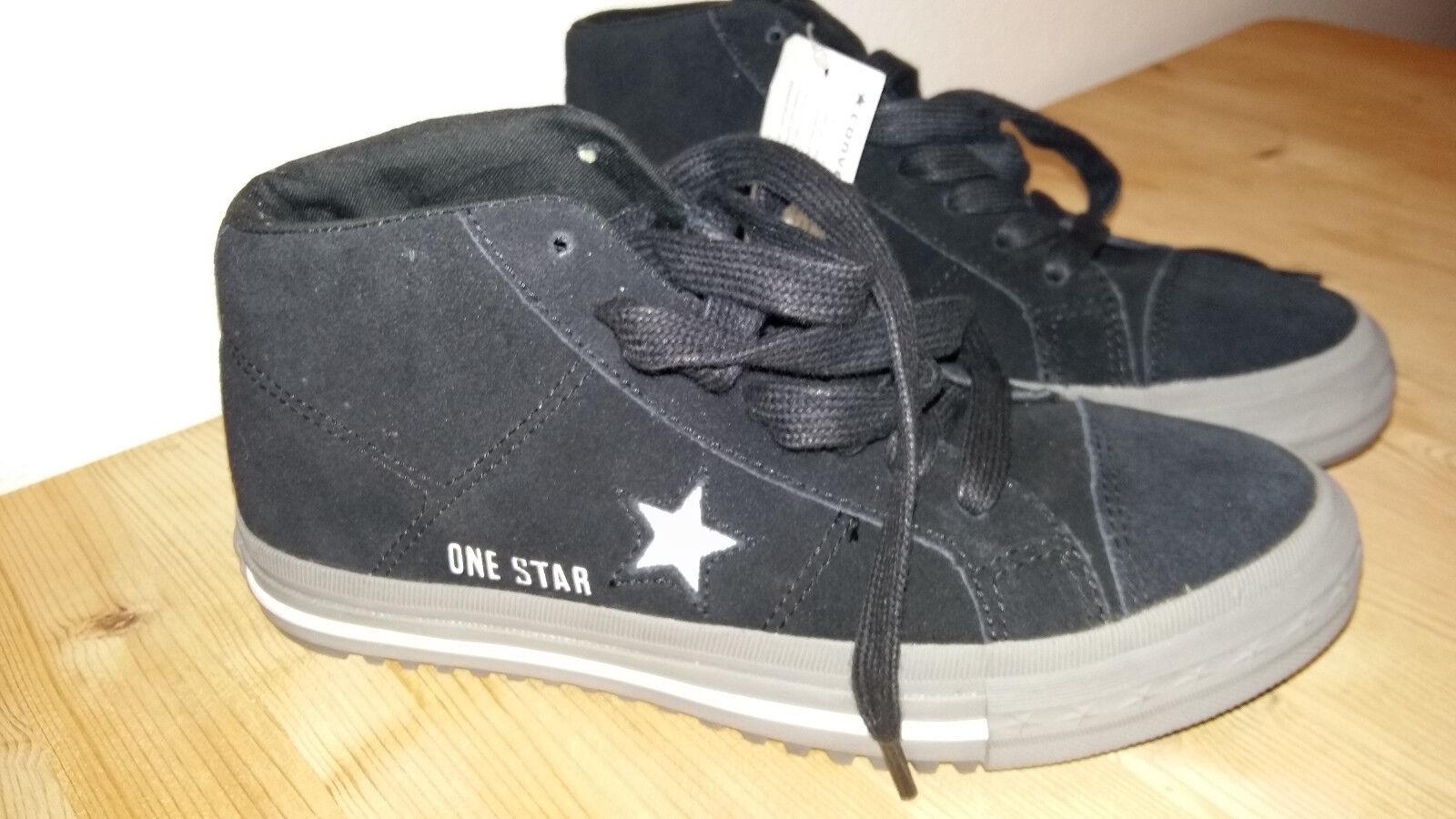 Converse ONE STAR MID Gr.37,5   UK 5  schwarz   Nubuck Leder 111284 NEU 5399f7