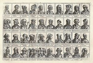 Antique-engraving-No-title-Dukes-of-Brabant-40-portraits-of