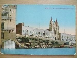 POSTCARD-MALTA-ST-JULIAN-039-S-CARMELITE-CHURCH