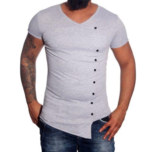 Baxboy Herren T-Shirt Long Oversize Clubwear Party Swag Schwarz//Weiß//Grau JP-599