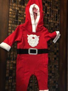 Cat /& Jack Baby Boys Santa Suit Romper