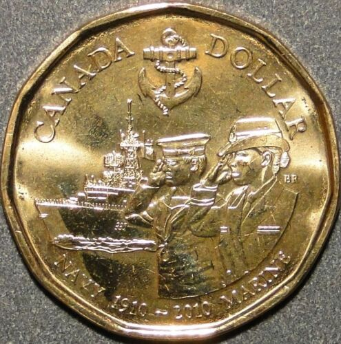 2010 CANADA 100TH ANNIVERSARY OF THE CANADIAN NAVY $1.00 LOOINIE IN MINT WRAP