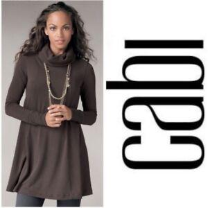 Cabi-596-Brown-Swing-Turtleneck-Sweater-Dress-Medium