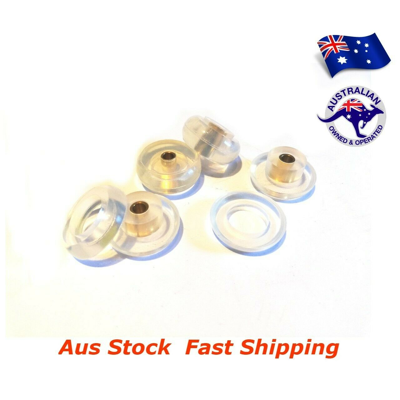 4pc Gel Two Piece Vibration and Shock Mount 25mm D Suits 3.7 to 8kg, -40 to 200c