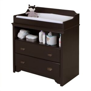 South S Fundy Tide Changing Table Espresso 9024331 Baby Tables