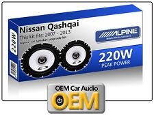 "Nissan Qashqai Front Door speakers Alpine 17cm 6.5"" car speaker kit 220W Max"