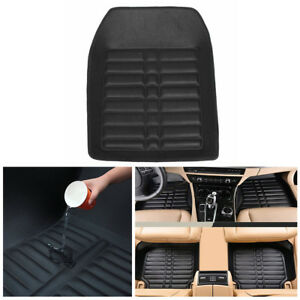 5-Car-Floor-Mats-Black-Leather-Front-Rear-Liner-Non-slip-Dustproof-Easy-Clean