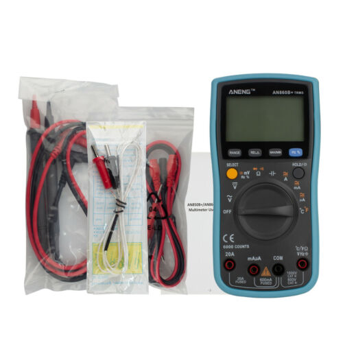 Digital Multimeter AC//DC Current Voltage Resistance Temp Tester  6000 Counters