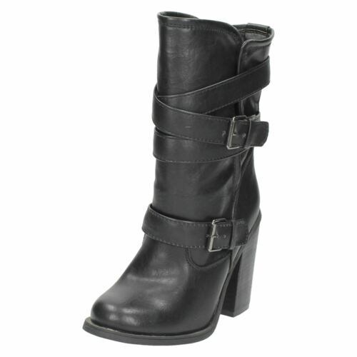Ladies Spot On /'Mid Calf Length Boots/'