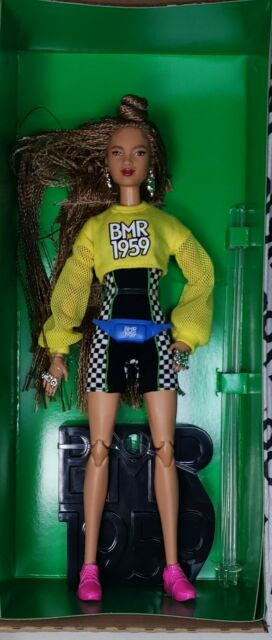 Barbie BMR1959 Doll Extra Long Braids-Bike Shorts-Romper-Cropped Sweatshirt AA