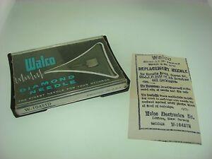 VINTAGE-WALCO-DIAMOND-TURNTABLE-NEEDLE-W-104STD-IN-O-B