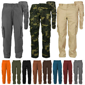 Men-039-s-Cotton-Casual-Tactical-Utility-Multi-Pocket-Cargo-Military-Work-Pants