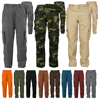 Combat Action Work Trousers TWINPACK Click Unisex Multipocket Zipped Cargo