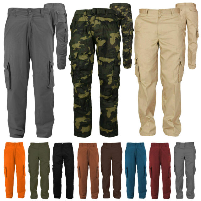 Men/'s Military Camouflage Combat Army Working Casual Cotton Cargo Trousers Pants