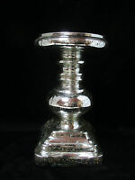 Pottery Barn Antique Mercury Glass Pillar Candle Holder 9 High Medium