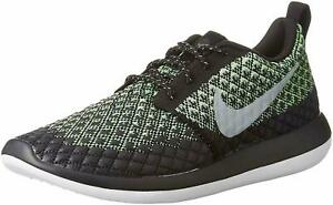 the latest 859b3 0ceaa Details about Nike Roshe Two Flyknit Men's Running Training Shoes Black  Green SIZE 9