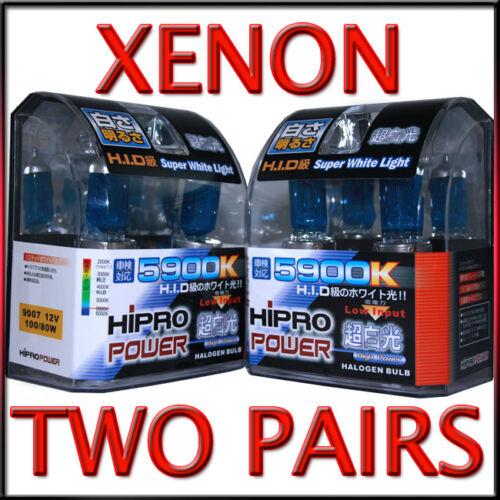 4PCS XENON HID HALOGEN HEADLIGHT BULBS 2004 2005 2006 2007 MITSUBISHI ENDEAVOR