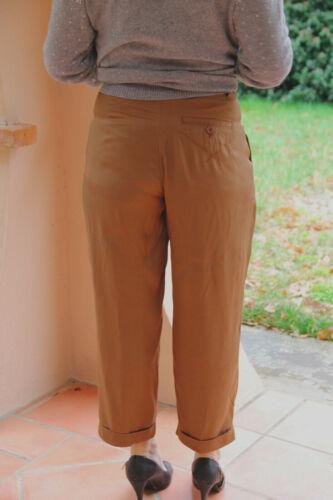Size Fr Etichette lussuosi Satin 7 Pantaloni 34 8 Camel Novità W24 Use High 32d HqnS1wz0
