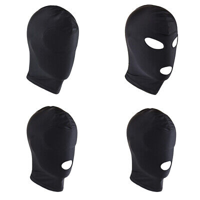 Hot Sell Unisex Headgear Blindfold Face Hood Cover Open Mouth Hood Head Costume