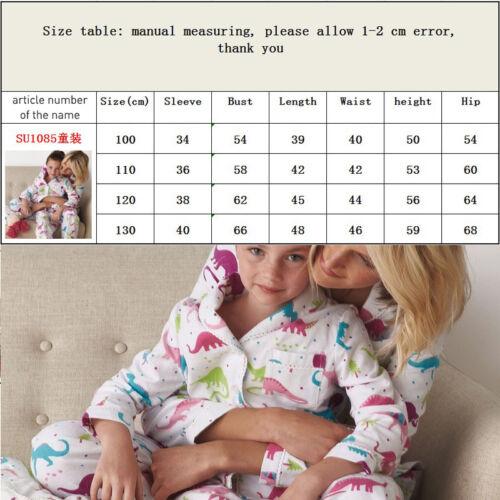 Family Matching Women Kids Christmas Pyjamas Xmas Nightwear dinosaur Set KY