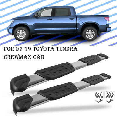 Pair Nerf Bar Running Board Fit 2007-2019 Tundra Double Cab Side Step