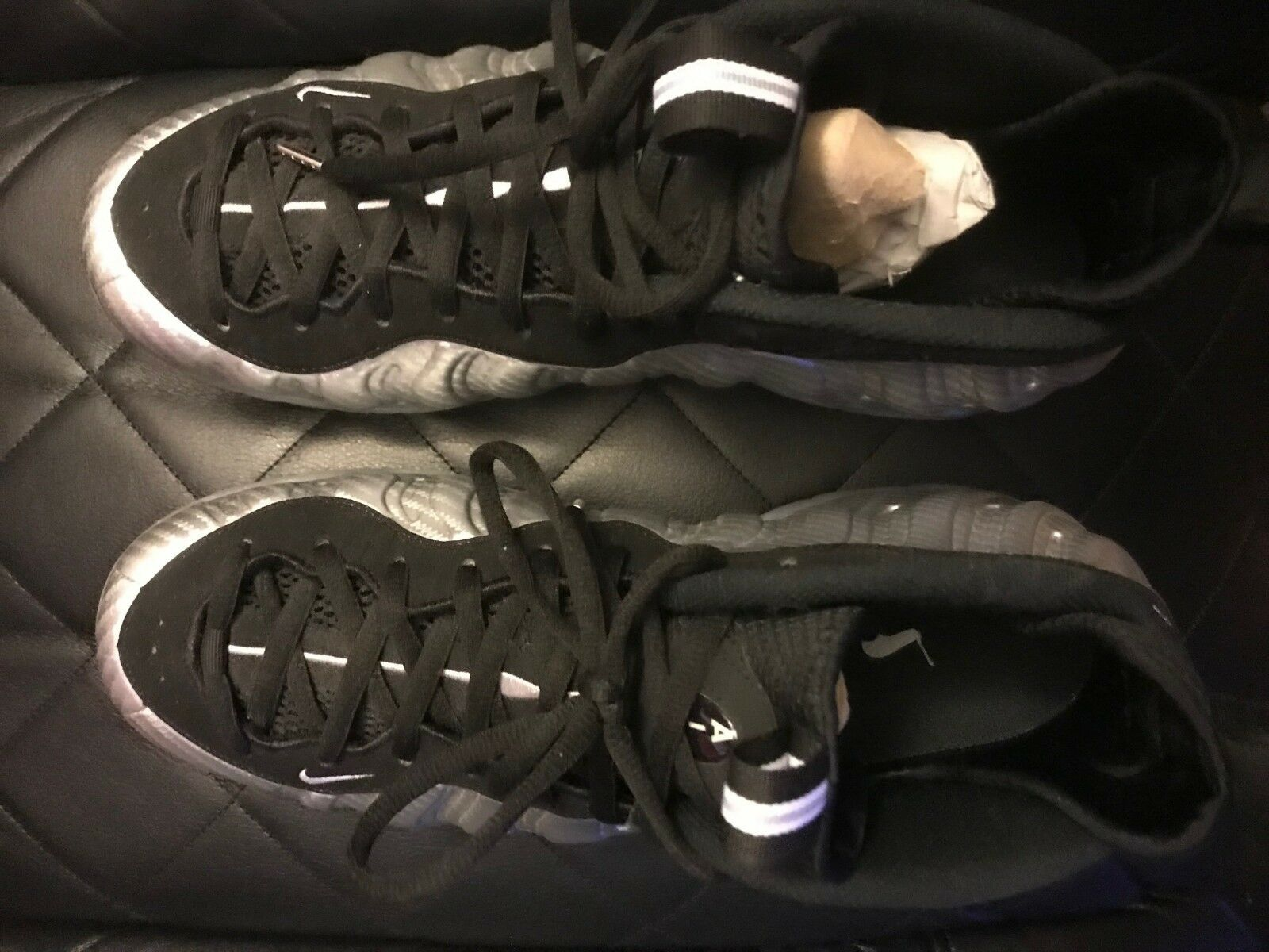 nike foamposite siver/black size 13 worn once New shoes for men and women, limited time discount