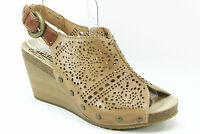 Pikolinos Benissa Terrano (dk Beige) Leather Cut Out Wedge Sandal 37, 40, 41