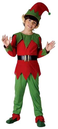 BOYS GIRLS KIDS SANTAS HELPER CHRISTMAS ELF Fancy Dress Costume Outfit /& EARS
